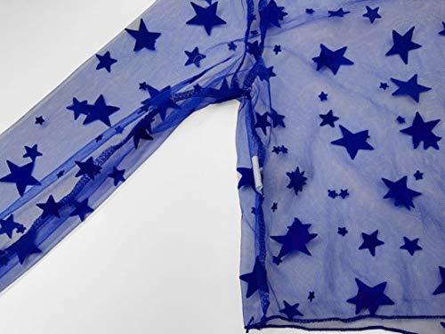 Blouse Longues D'été Creux Casual Femmes Plage Tank Gilet Débardeurs Shirt Lâche Manches À Bleu Innerternet 05f8qww