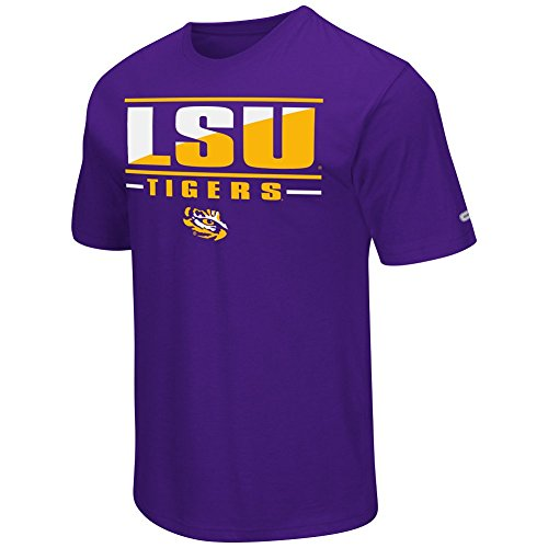Colosseum NCAA Men's -Big and Tall-Two Face T-Shirt-LSU Tigers-Purple-2XL Big