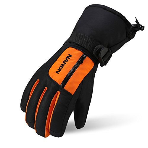 SEEU Mens Womens Warm Gloves, Snow Skiing Glove, Full Finger Winter Mittens