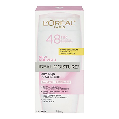 - L'Oreal Paris Ideal Moisture Facial Day Lotion SPF 25, Dry Skin