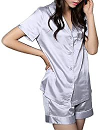 Women's Satin Pajamas Sleepwear Long and Short...