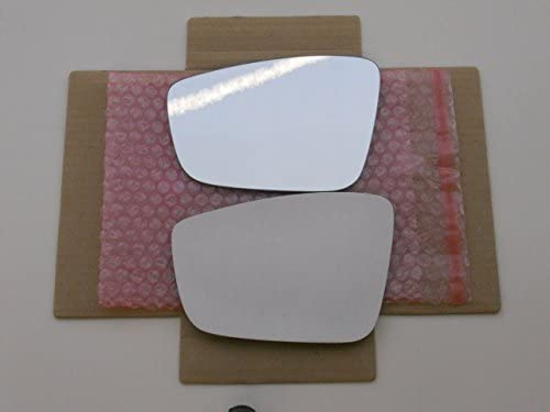 New Replacement Mirror Glass with FULL SIZE ADHESIVE for VOLKSWAGEN JETTA PASSAT BEETLE Driver Side View Left LH