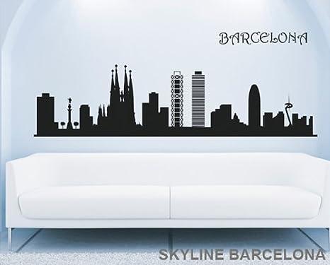 Vinilo decorativo adhesivo para pared SKYLINE BARCELONA para ...