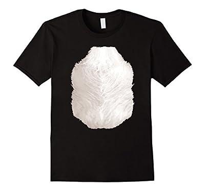 Halloween Animal Costume Skunk TShirt Funny Chest Hair Belly