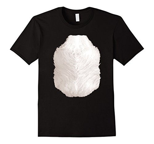 Mens Halloween Animal Costume Skunk TShirt Funny Chest Hair Belly Small (Halloween Costume Chest Hair)