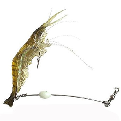 EASY BIG Artificial Bait Soft Shrimp Lures Set for Freshwater and Saltwater Pack of 5pcs (Assorted (Artificial Baits)