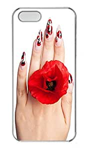 iPhone 5 5S Case Nail Painting PC Custom iPhone 5 5S Case Cover Transparent
