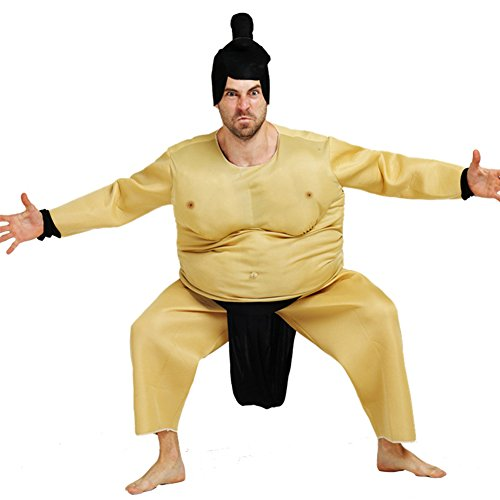 MARIAN 2017 Halloween Adults Costume Sumo Wrestler Wrestling Cosplay (Funny Adult Halloween Costumes Ideas)