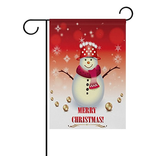 Blue Viper Christmas Decorations Garden Flag Cute Christmas Snowman Pattern Waterproof Polyester Fabric and Mildew Resistant for Outdoor Lawn and Garden Double Side Print 12 x 18 inch