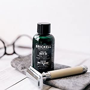 Brickell Men's Hybrid Glide Pre Shave Oil - Natural & Organic Pre-Shave Oil for Men - 2oz