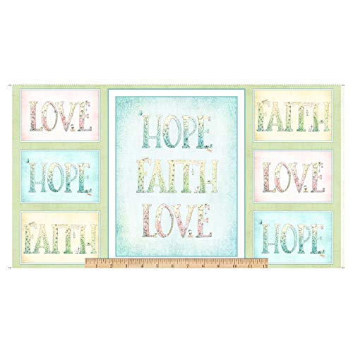 Fabric & Fabric QT Fabrics Sweet Thoughts Faith Hope Love 24