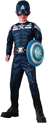 [Captain America: The Winter Soldier Reversible Stealth/Retro Costume, Small] (Captain America First Avenger Halloween Costume)