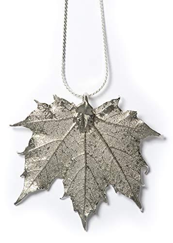 (Artisan Outlet LLC Sugar Maple Leaf Necklace (Silver))