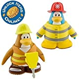 Disney Club Penguin Series 6 Mix 'N Match mini figure pack firefighters construction workers, contains the code and coins!