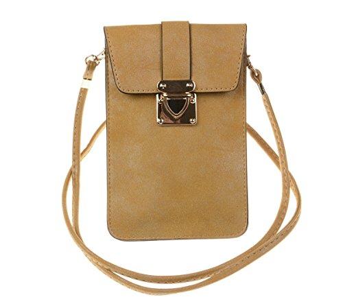 Small Travel Phone Purse Matte PU Leather Crossbody Single Shoulder Bag Cellphone Pouch Wallet Case for iPhone X Max 8 7 plus Huawei (Fashion Fair Matte Lipstick)