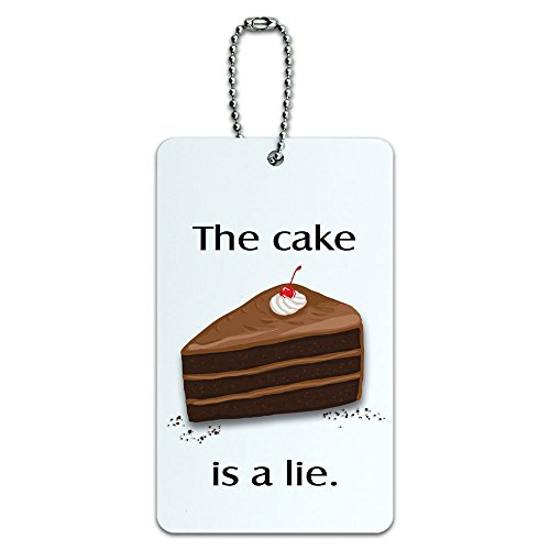 The Cake is a Lie - Piece of Dessert Gamer ID Tag Luggage Card Suitcase Carry-On