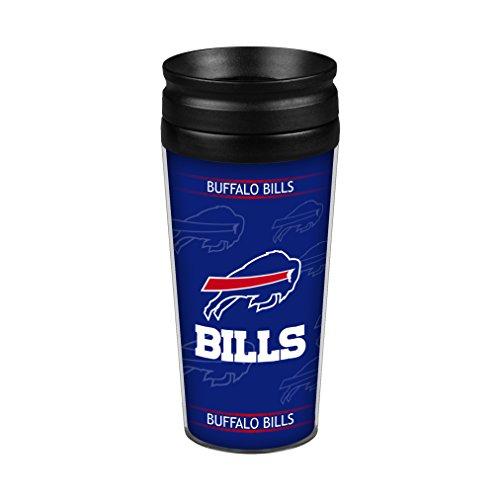 NFL Buffalo Bills Full Wrap Travel Tumbler, 14-Ounce, Blue - Buffalo Bills Tumbler