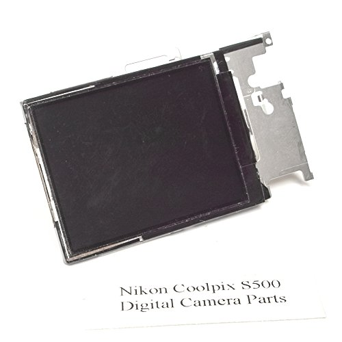 (Genuine Nikon Coolpix S500 LCD Screen + Metal Plate - Replacement Parts)