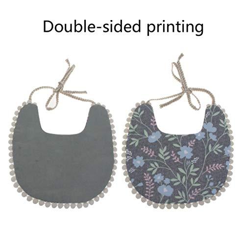 Hacloser Starter Bib Feeder Bibs Baby Bib Unisex Infant Washable Tassel Saliva Towel Floral Double Side Bibs Props Bandana Kids Burp Cloth ()