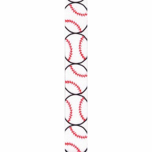Offray Grosgrain Sports Craft Ribbon, 7/8-Inch x 9-Feet, Baseball Ribbon Baseball