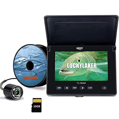 LUCKY Underwater Fishing Camera DVR Underwater Fish Finder Infrared LED Portable Fishing Video Camera LCD Monitor for Kayak Boat Sea Fishing