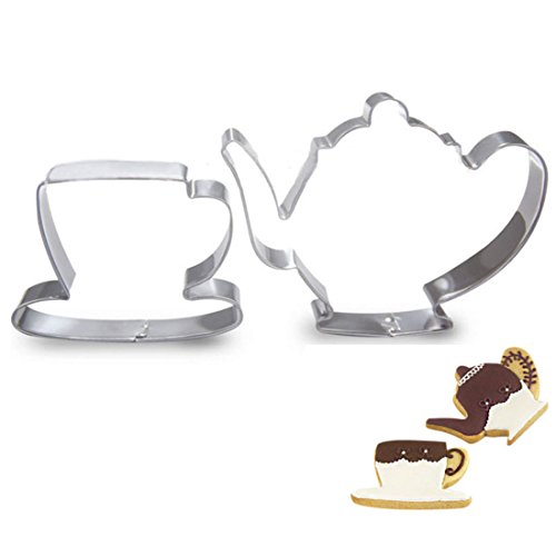 (WJSYSHOP Teapot Cup Cookie Cutter for Celebrations Christmas Birthday Party Wedding Holiday)
