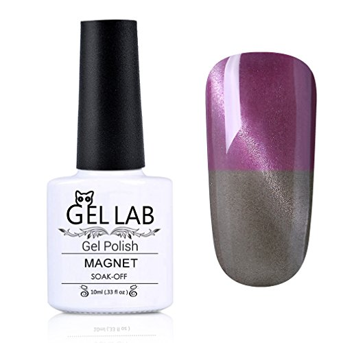 GEL LAB Soak Off Thermal Temperature Changing Color Cat Eye