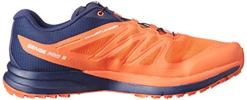 Zapatillas De Running Salomon Hombres Sense Pro 2 Rojo Tomate / Negro / Azul Marino Wil