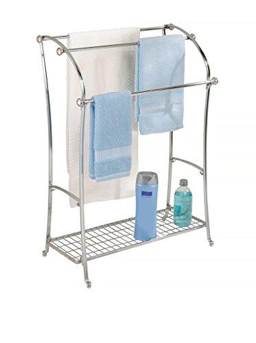 InterDesign York Lyra Free Standing Floor Towel Holder Stand, Bronze delicate