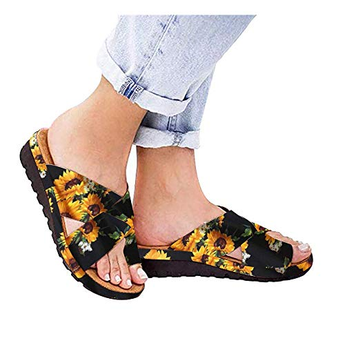 DZTZ Women Slides Slippers Sandal Toe Platform