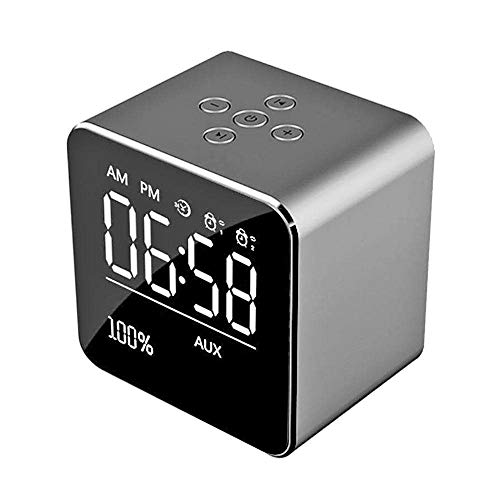 - INorton Digital Alarm Clock Radio with Bluetooth Speaker Portable Wireless Stereo Audio Music Player with Night Light, LCD Display,Support TF Card