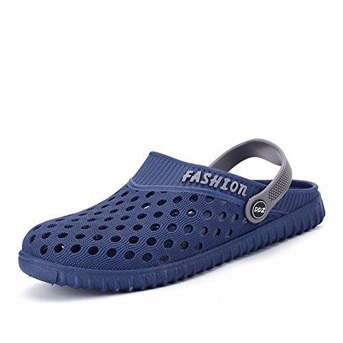 verano sandalias Chicos juvenil zapato Agujero zapato sandalias playa zapato estudiante Sandalias tendencia verano ,azul,US=10,UK=9.5,EU=44,CN=46