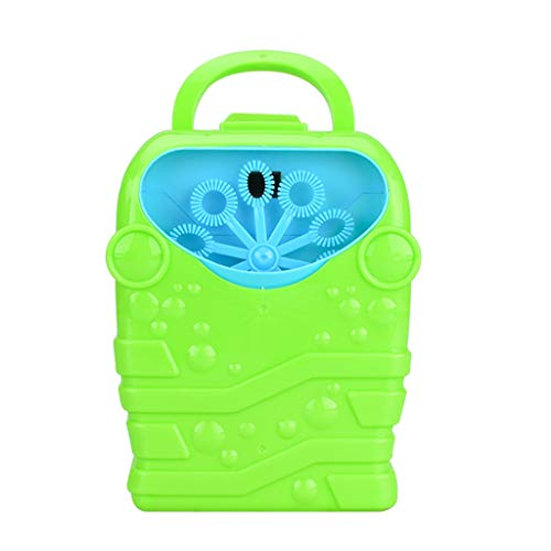 Binory Portable Automatic Bubble Blower Outdoor Travel Picnic Bathtub Toy,Funny Bath Bubble Machine Simple Easy to Use Educational Toy Party Favors Birthday Gift for Kids Baby Children(Green) ()