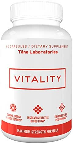 Vitality - Premium Health Booster, Increases Strength, Energy, Builds Muscle | for Men & Women | Tribulus, L-Arginine, Horny Goat Weed, Saw Palmetto