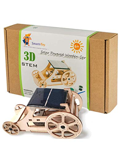 STEM Solar Car Toys - DIY Wooden Model Kits to Build for Boys and Girls - Educational Science Experiment Projects for Kids Aged 8-12 and Older - 3D Puzzles Inventor Kit - Robotics for Kids and Adults