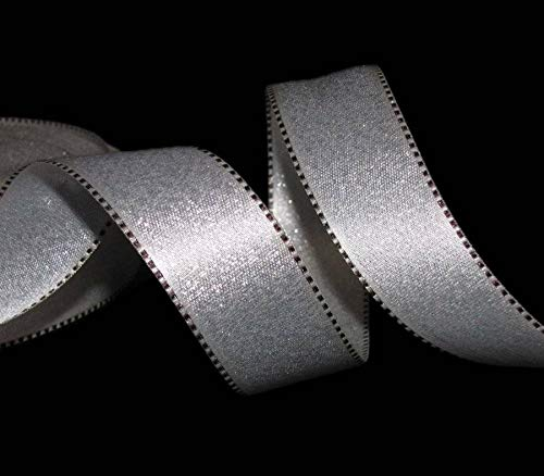 Shimmer Stitch (5 Yards Silver Shimmer Stitch Edge Ribbon 15/16