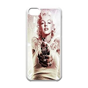 Custom Colorful Case for Iphone 5C, Marilyn Monroe Cover Case - HL-537313