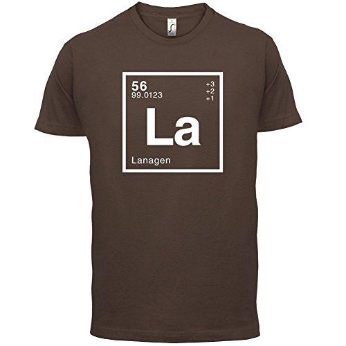 Lana Periodensystem - Herren T-Shirt - Schokobraun - M
