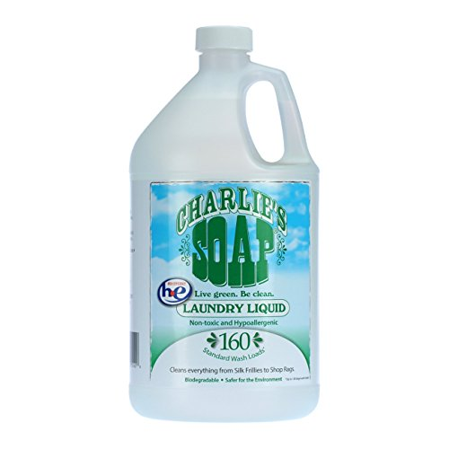 Charlie's Soap - Fragrance Free Laundry Liquid -160 Loads (One 160-load Bottle, 160 Total Loads)