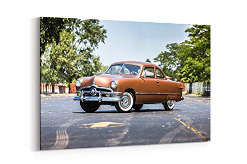(Ford Custom Deluxe Club Coupe 1950 - Canvas Wall Art Gallery Wrapped 26