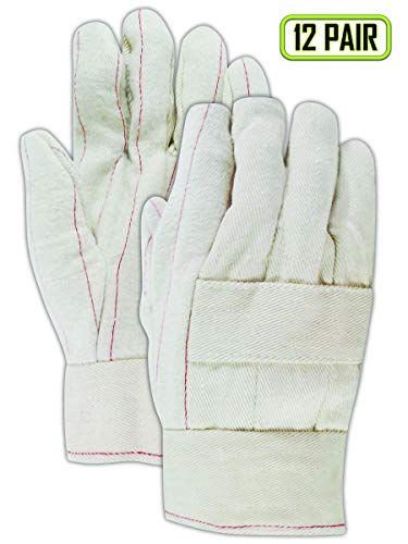 Magid Glove & Safety 198KBT Magid Heater Beater 24 oz. Cotton Canvas Hot Mill Gloves, Natural, Men's (Fits Large) (12 ()