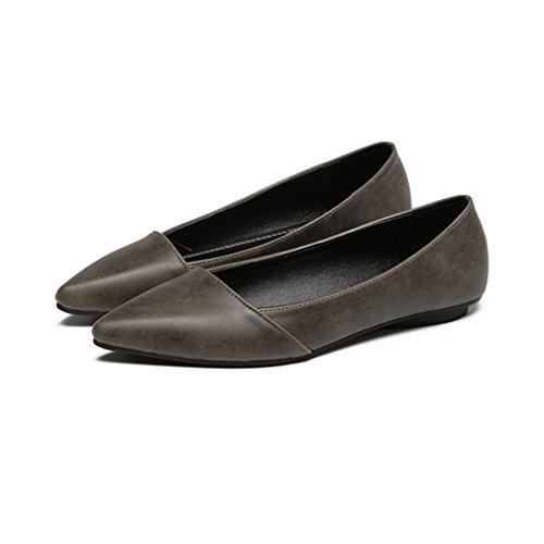 ... Giy Kvinners Retro Uformell Spiss Tå Dagdriver Flat Komfort Slip-on  Klassisk Ballett Kjole Penny ...