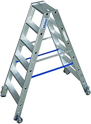 KRAUSE STABILO Trampolín de escalera doble, móvil 2x6 peldaños: Amazon.es: Bricolaje y herramientas