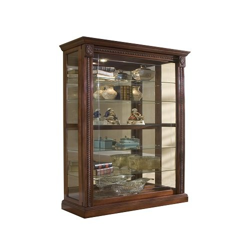 Pulaski Two Way Sliding Door Curio, 43 by 17 by 80-Inch, Medallion Cherry Finish, Brown (Door Cabinet 2 Pulaski)