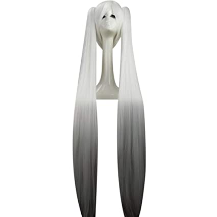 Moda cosplay blanca peluca vocaloid sakura hatsune miku ...