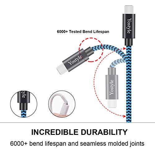 Cable USB Tipo C, 4Pack [1M 2M 2M 3M] Cable Cargador Tipo C, Nailon Cable USB C a USB 3.0 Carga Rápida y Sincronización, Compatible con Samsung Galaxy S10/S9/S8 Note9, Huawei P40/P30/P20/Mate20 etc.