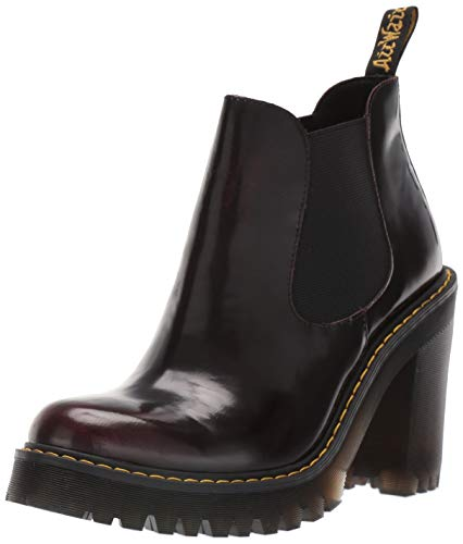Dr. Martens Women's HURSTON Fashion Boot, Cherry Red, 6 M UK (8 US) (Best Chelsea Boots 2019)