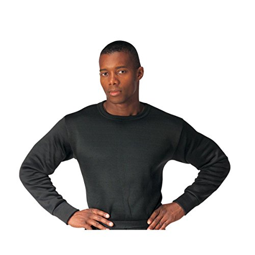 Gi Plus Polypro Crew Neck Top (Medium/Black)
