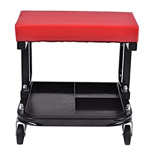 Goplus Rolling Creeper Seat Mechanic Stool Chair Repair Tools Tray Shop Auto Car Garage w/ 220 lbs Capacity