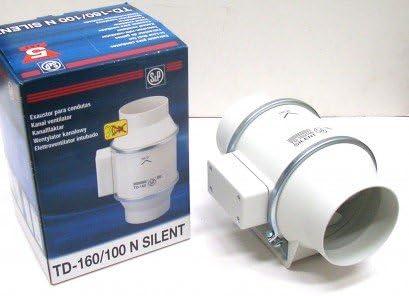 S&P TD 160/100 - Ventilador de tuberías (160 m3, para tubos de 100 ...